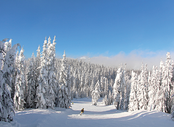 The Summit at Snoqualmie ski mountain near Seattle Washington