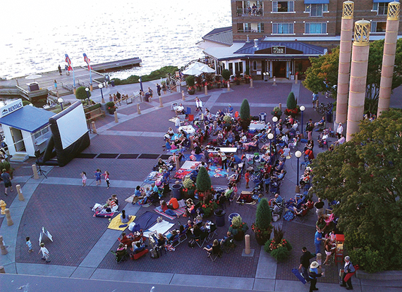 Outdoor Movie Nights at The Woodmark Hotel in Kirkland Washington
