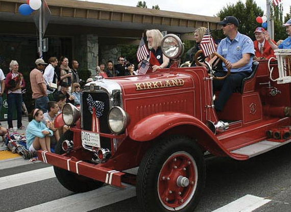 Fourth Of July Parade - The Woodmark Hotel in Kirkland Washington