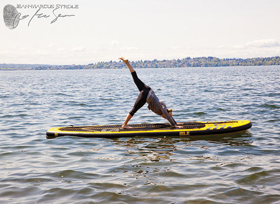 Paddleboard Yoga on Lake Washington by the Woodmark Hotel in Bellevue